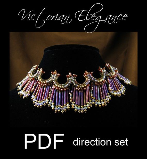 Victorian Elegance PDF downloadable beading pattern direction set. $9.00, via Etsy.