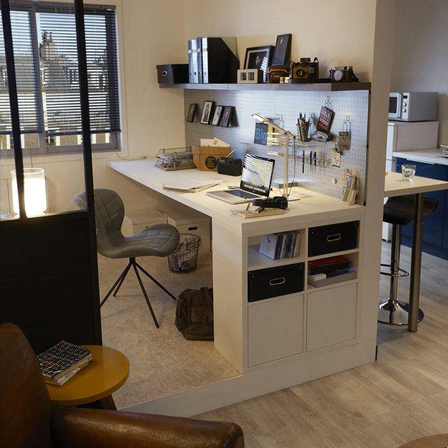 10 id es pour un coin bureau stimulant pi ces de monnaie fils et bureaux. Black Bedroom Furniture Sets. Home Design Ideas