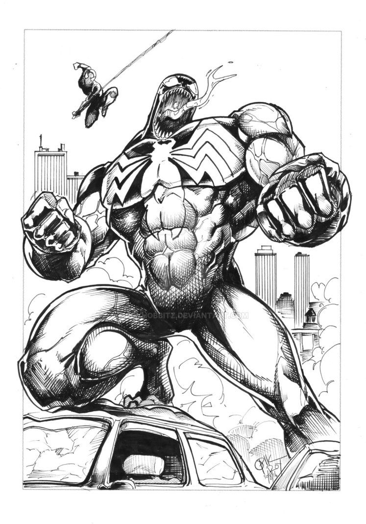 Venom where spiderman Ink by royhobbitz on DeviantArt | Venom sketch ...
