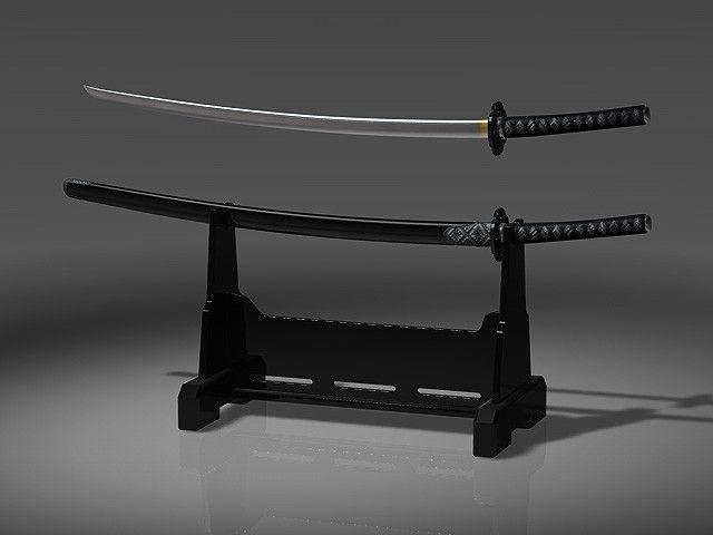 3D Sword Japanese Japan Model - 3D Model