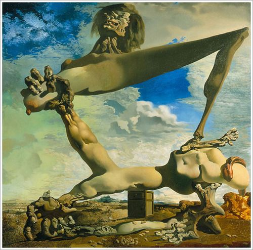 Soft Construction with Boiled Beans  by Dali   Giclee Canvas Print Repro
