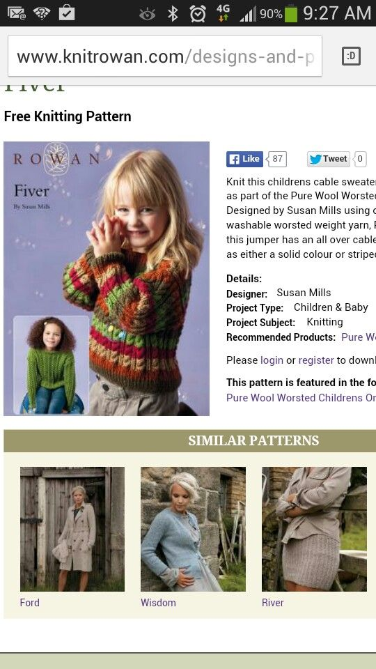 Colourful Cable Jumper Kids Kids Knitting Patterns Pinterest