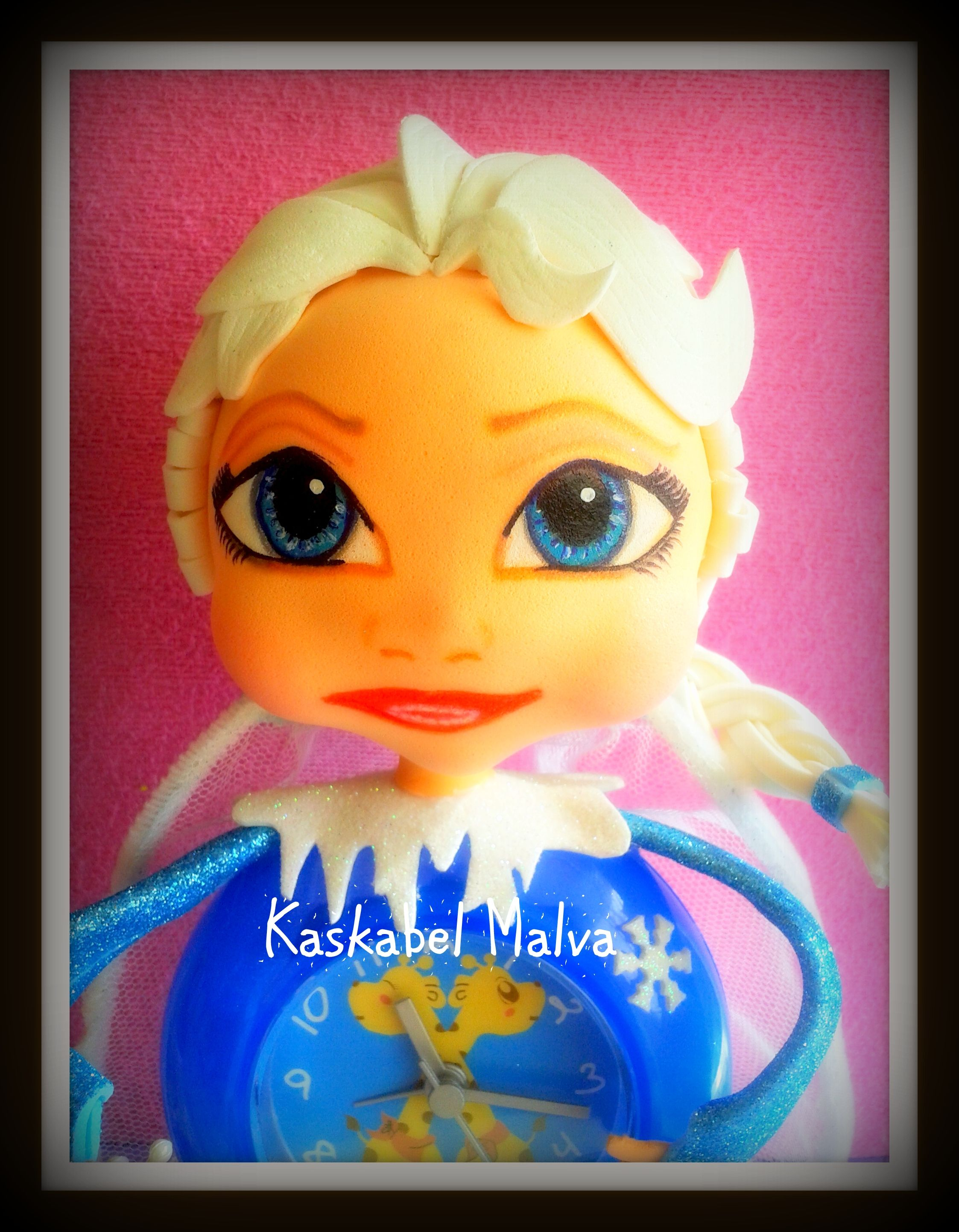Carita de Elsa de Frozen en fofureloj by kaskabel malva.