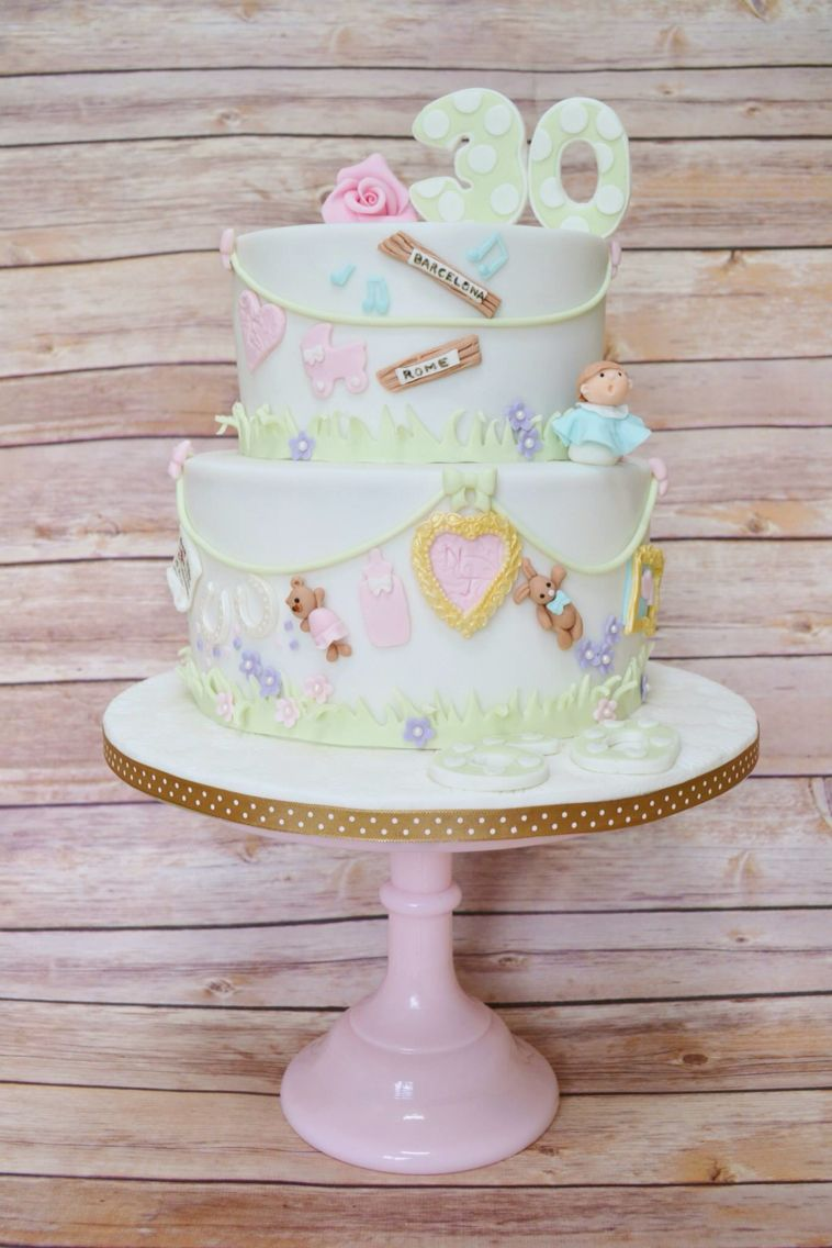 Joint 30th and Diamond wedding anniversary cake | CAKES~*and Toppers ...