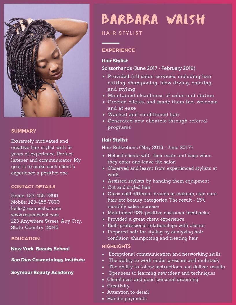 Pin on resume template For Teens