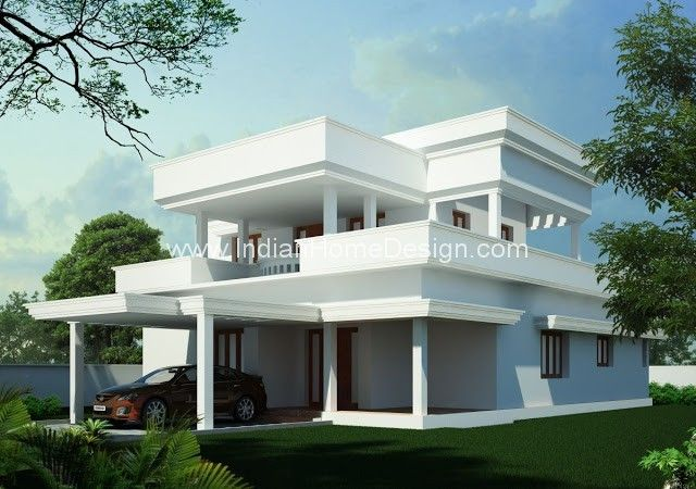 simple flat roof 4 bedroom indian home design ideas free house