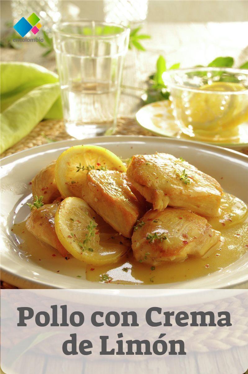Pollo Con Crema De Limón Recetas Con Pollo Recetas Fáciles Pechuga De Pollo Pollo Pollo Relleno De Espinaca