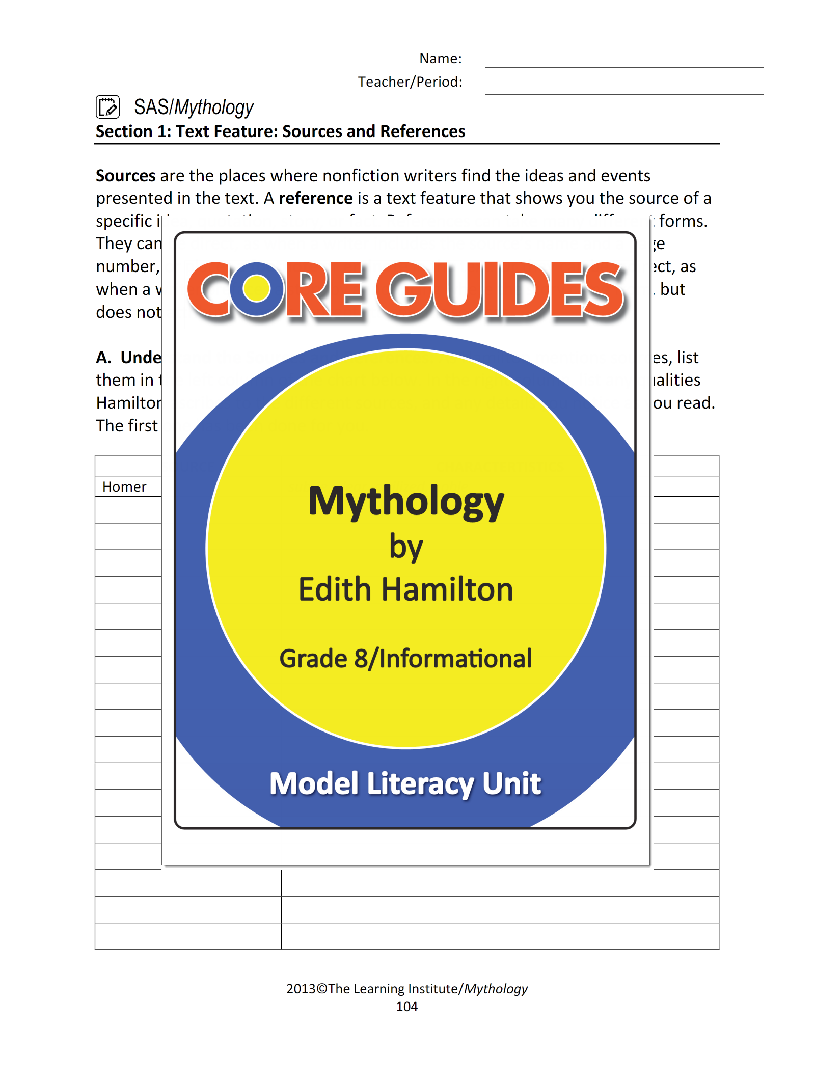 Guide for mythology by hamilton array download a freebie from our core guide on the informational text rh pinterest ca fandeluxe Image collections