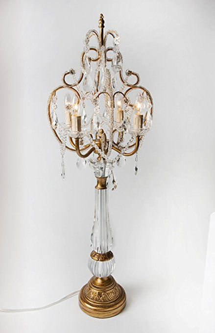 Opulent Treasures Chandelier Table Lamp Gold Design Elements And