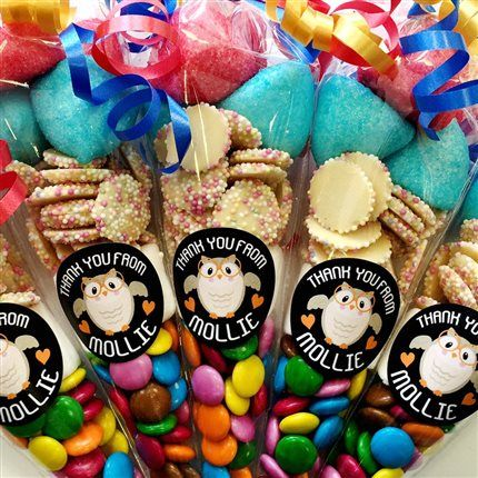 PRE-FILLED PARTY FILLERS SWEETS CONES BIRTHDAY WEDDING MULTI COLOUR BAGS XMAS