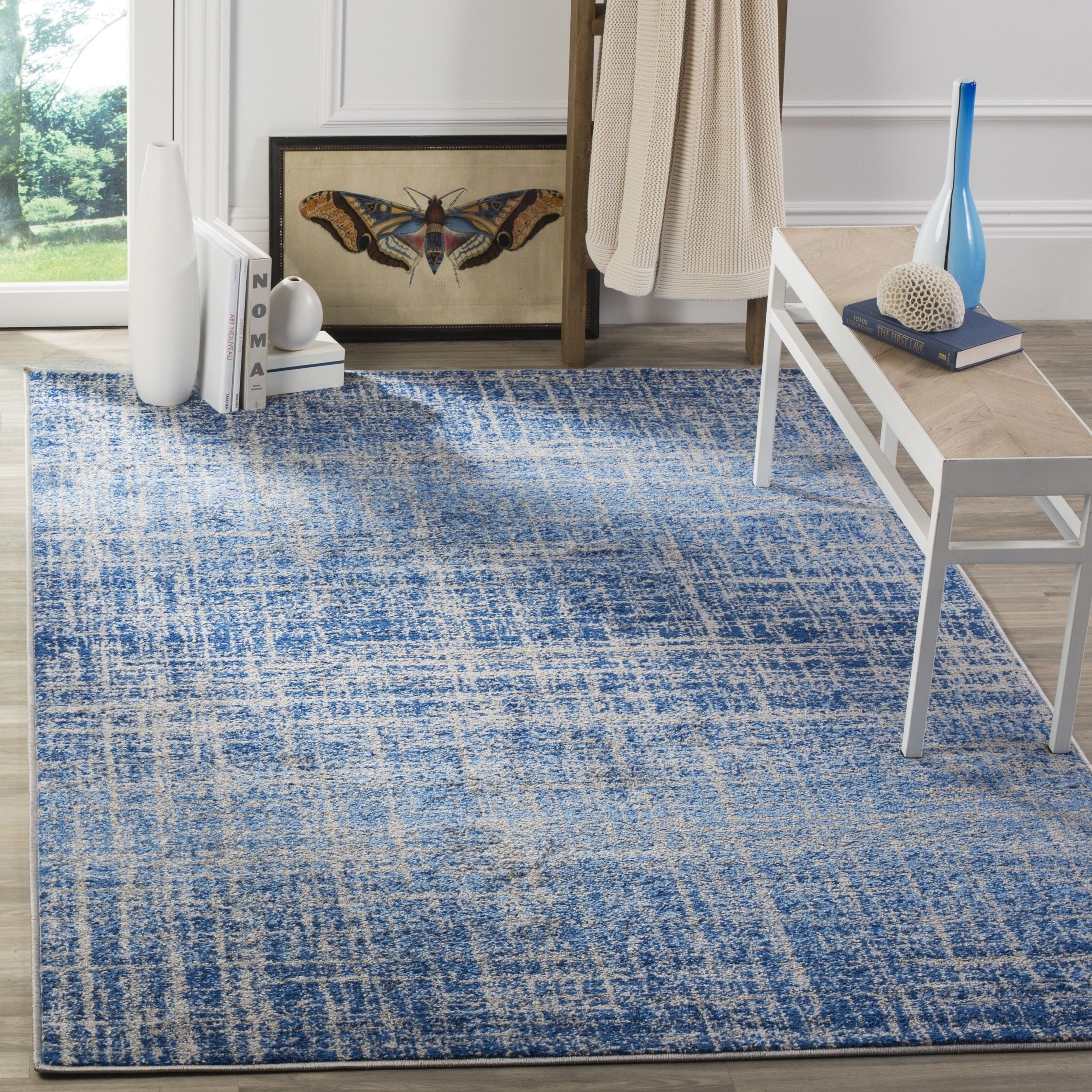 Blue Modern Area Rugs Free Shipping On Orders Over 45 Find The