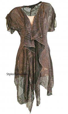 AP Nikka Lacey Vintage Vest In Gray And Black