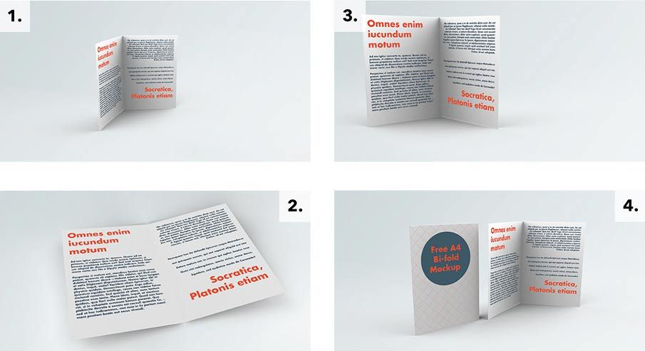 Free Bifold Brochure Mockup Psd1 Brochure Mockup Free Bi Fold Brochure Mockup Free Download