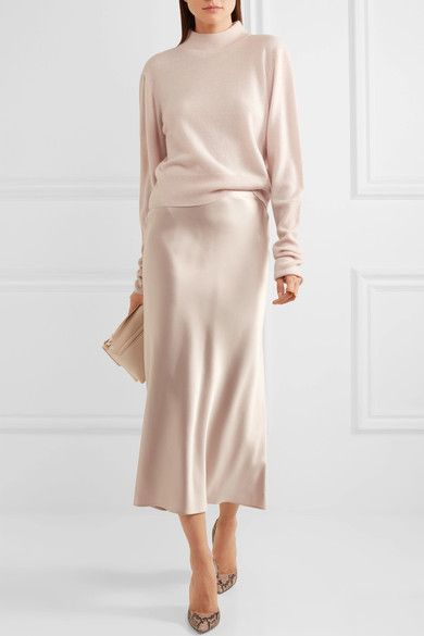28e87c749e8 Calvin Klein Off-white silk-satin Button fastenings along side 100% silk  Dry clean Designer color  Quartz Made in Italy