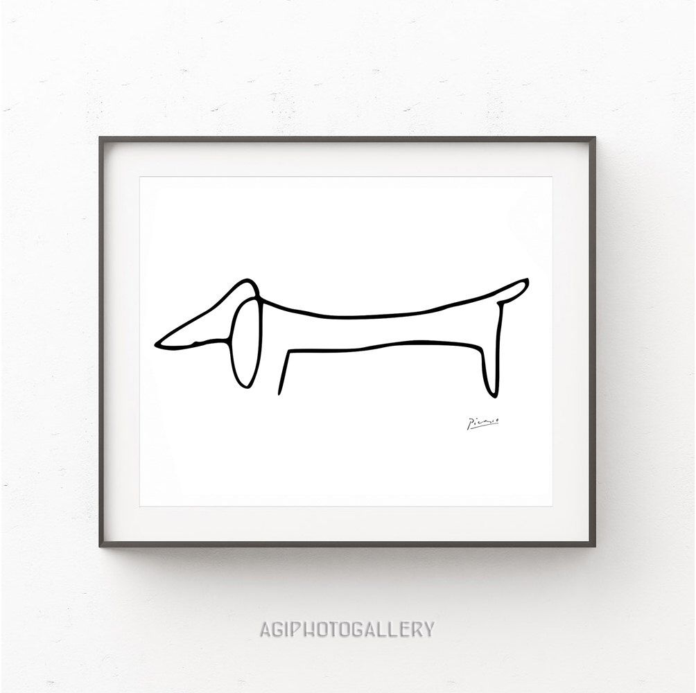 picasso print picasso poster the dog picasso picasso dachshund