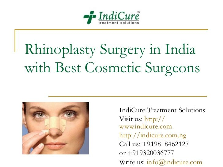 Rhinoplasty Surgery in India with Best Cosmetic Surgeons