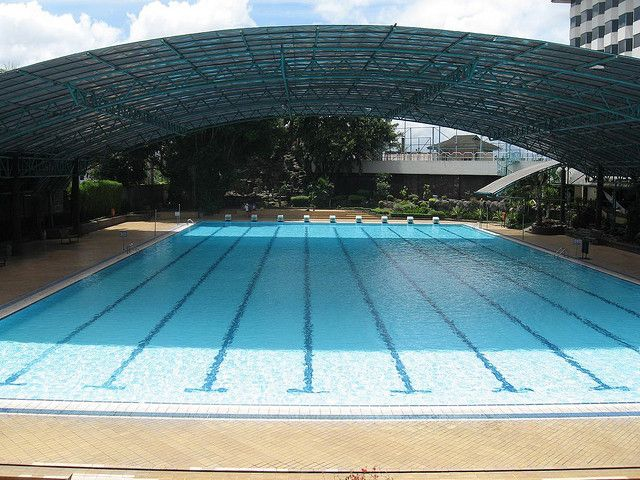 Olympic Size Swimming Pool To Olympic Size Swimming Pool At Horison Hotel Pools