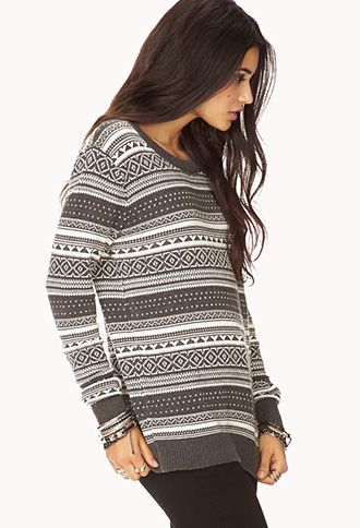 Relaxed Fair Isle Sweater | FOREVER 21 - 2000051637 | Fashion ...