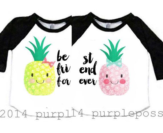 8a2ea83cc Best Friend Kids Shirts Bow Pineapple Best Friend by PurplePossom ...