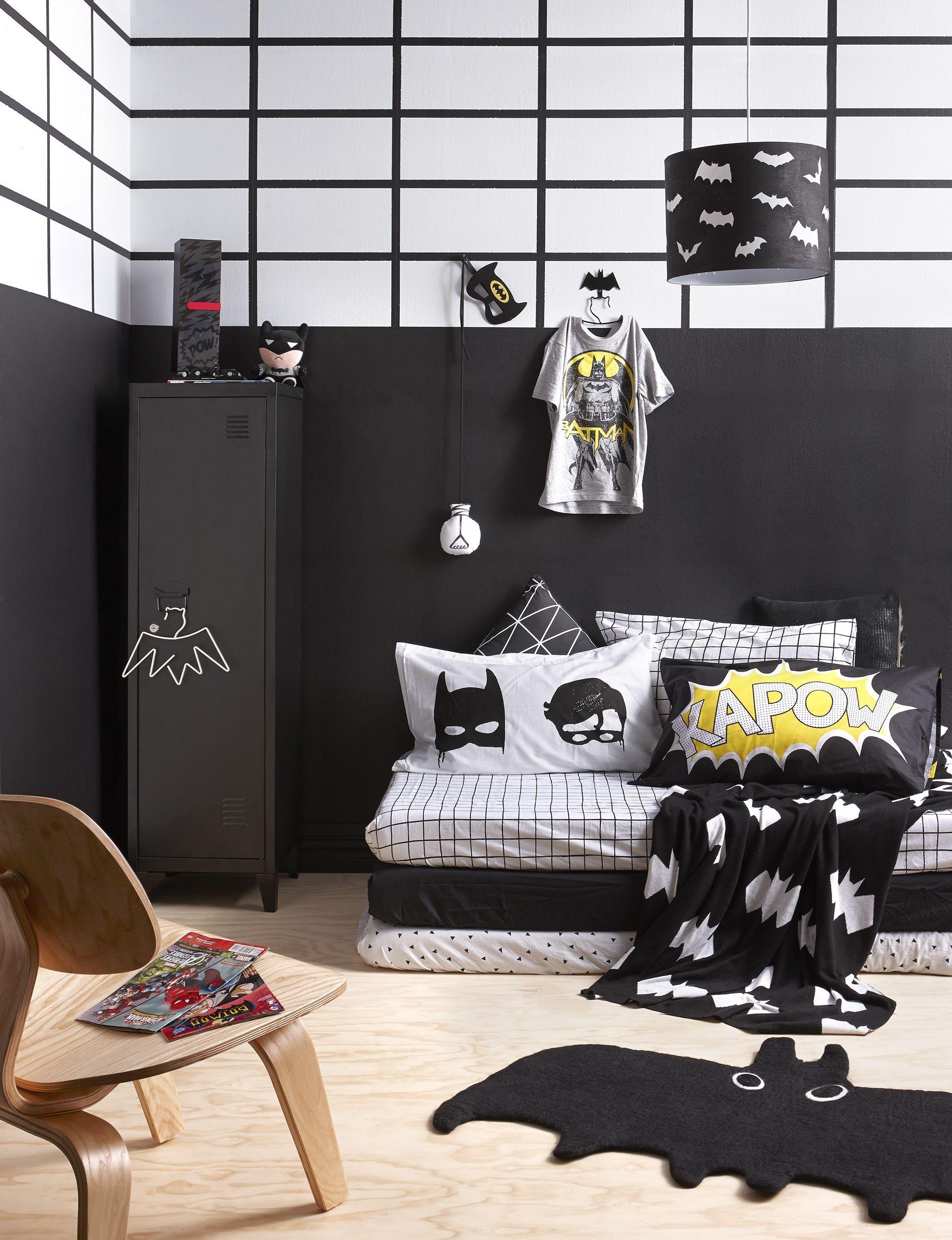 Black And White Kids Batman Bedroom Creating