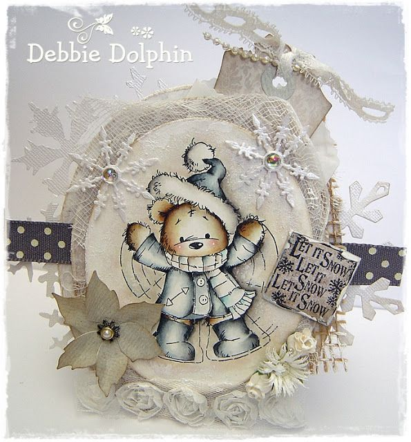 Debbie dolphin x mas winter cards christmas christmas cards und simple christmas cards - Niedliche weihnachtskarten ...