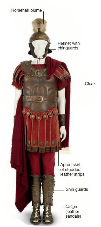 Roman Soldier Wearing A Leather Cuirass This Reconstructed Legionary Has A Metal Helmet And Shinguards To Protect Hi Soldier Helmet Roman Soldiers Roman Armor