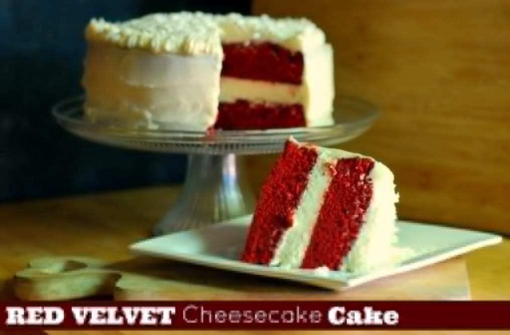 Red Velvet Cheesecake Cake – Aunt Bee's Recipes #redvelvetcheesecake