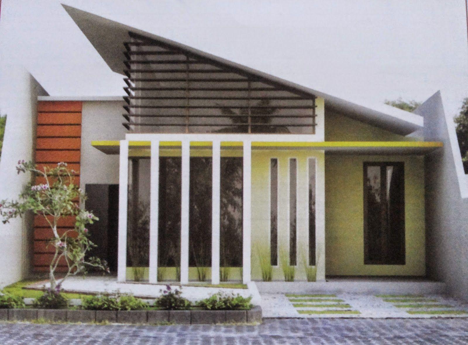 Desain Model Rumah Atap Miring