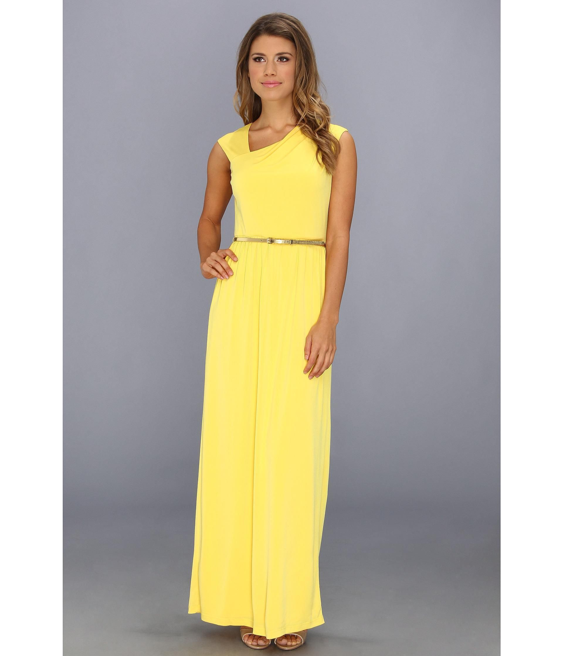 Stretchpoly maxi dress in a classically elegant oneshoulder