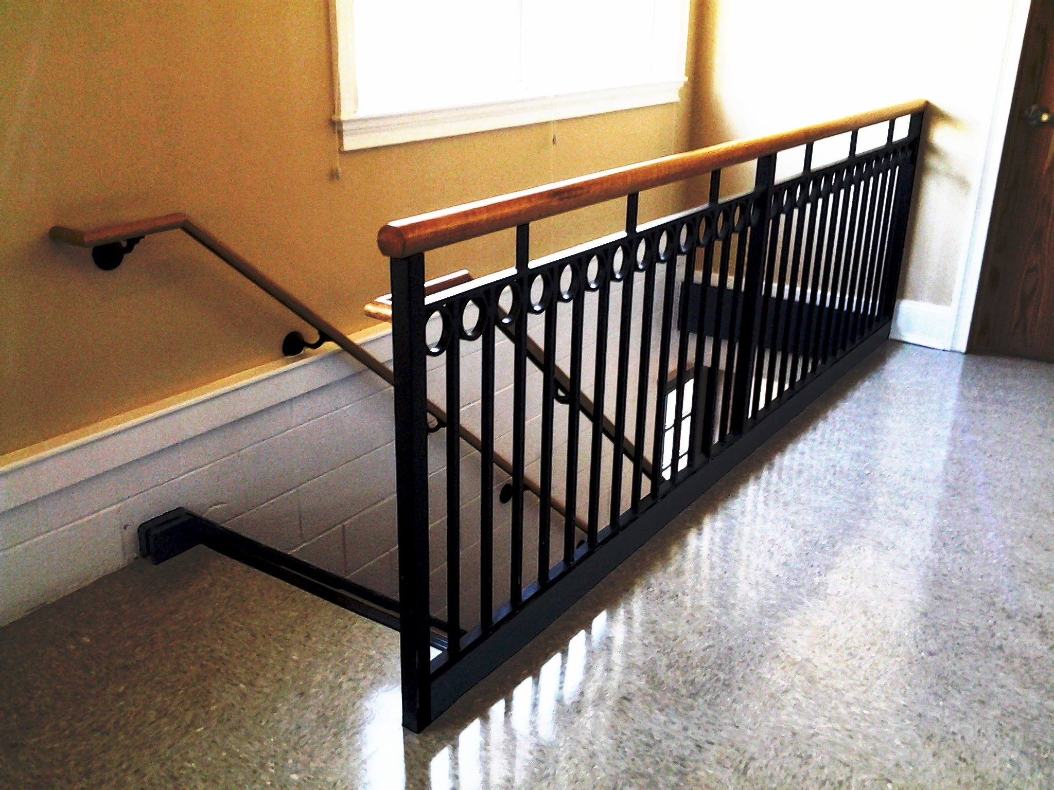 Wrought Iron Railing With Decorative