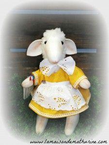 mouton Léonie, 25 cm