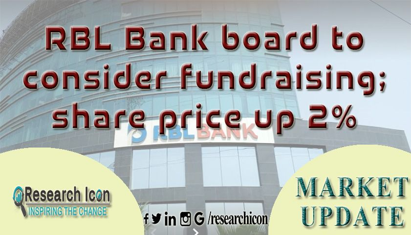 RBL Bank board to consider fundraising; share price up 2% | Rbl bank