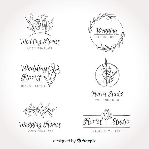 Wedding Florist Logos Template Collection