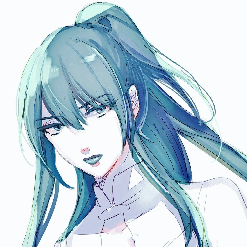 Pin By Lea Emie Thomas On Noblesselovers Anime Blue Hair Female Villains Digital Art Girl