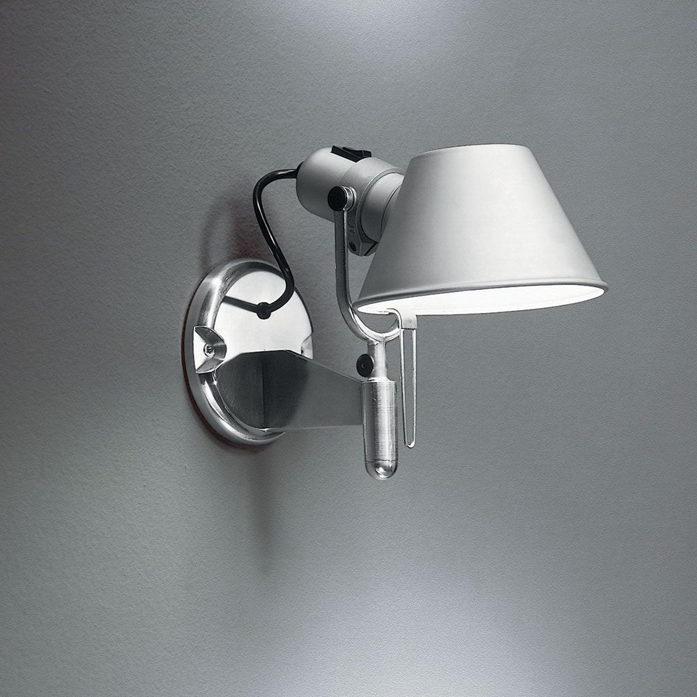 Tolomeo Classic Wall Spot With Switch By Artemide A029258 Contemporary Wall Lamp Wall Lamp Metal Wall Light