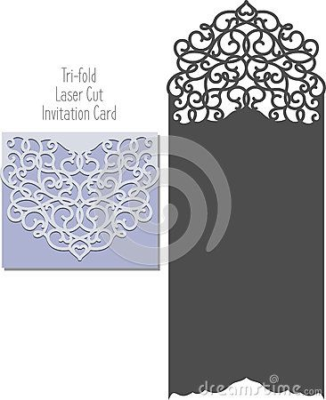 Sample Wedding Card Envelope Template | Laser Cut Invitation Card Laser Cutting Pattern For Invitation