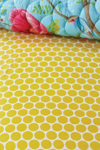 Pip Studio yellow big spot sheet