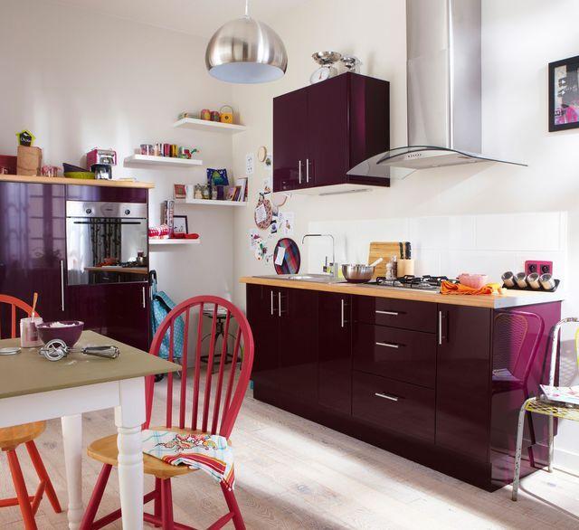Cuisine Amenagee Conseil Plan De Travail Rangement Triangle D Activite Meuble Cuisine Cuisine Violet Et Cuisine Moderne