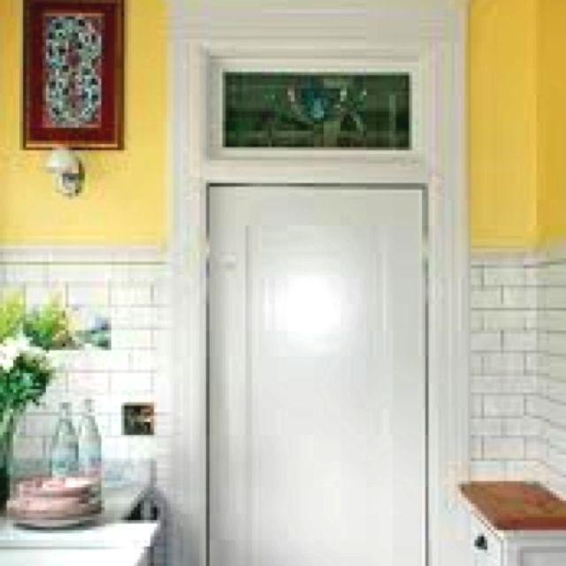 Interior Swinging Kitchen Doors: Transom Over Swinging Door