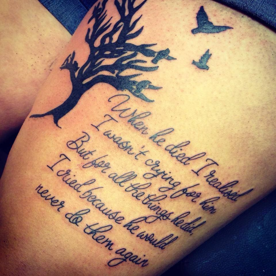 Quote Tattoo Designs: Quote, Modznrockers, Blackpool. #Quote #Script #Tree
