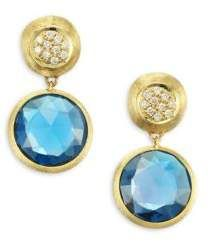 Marco Bicego Jaipur Drop Earrings with Blue Topaz & Diamonds Iks29