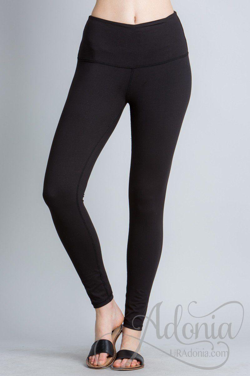 714d2029ea88d Wide Waistband Leggings   Products   Leggings, Black leggings, Yoga ...