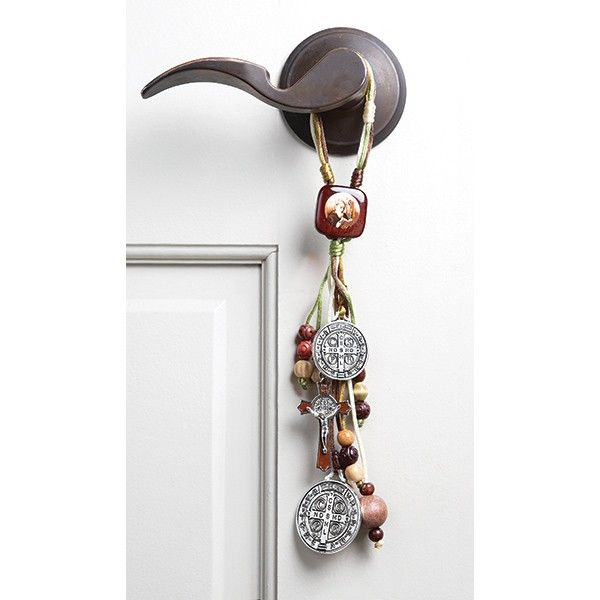 St. Benedict Home Blessing Beads. Hang them on a door knob or another hook  sc 1 st  Pinterest & St Benedict Home Blessing | Blessings and Spiritual