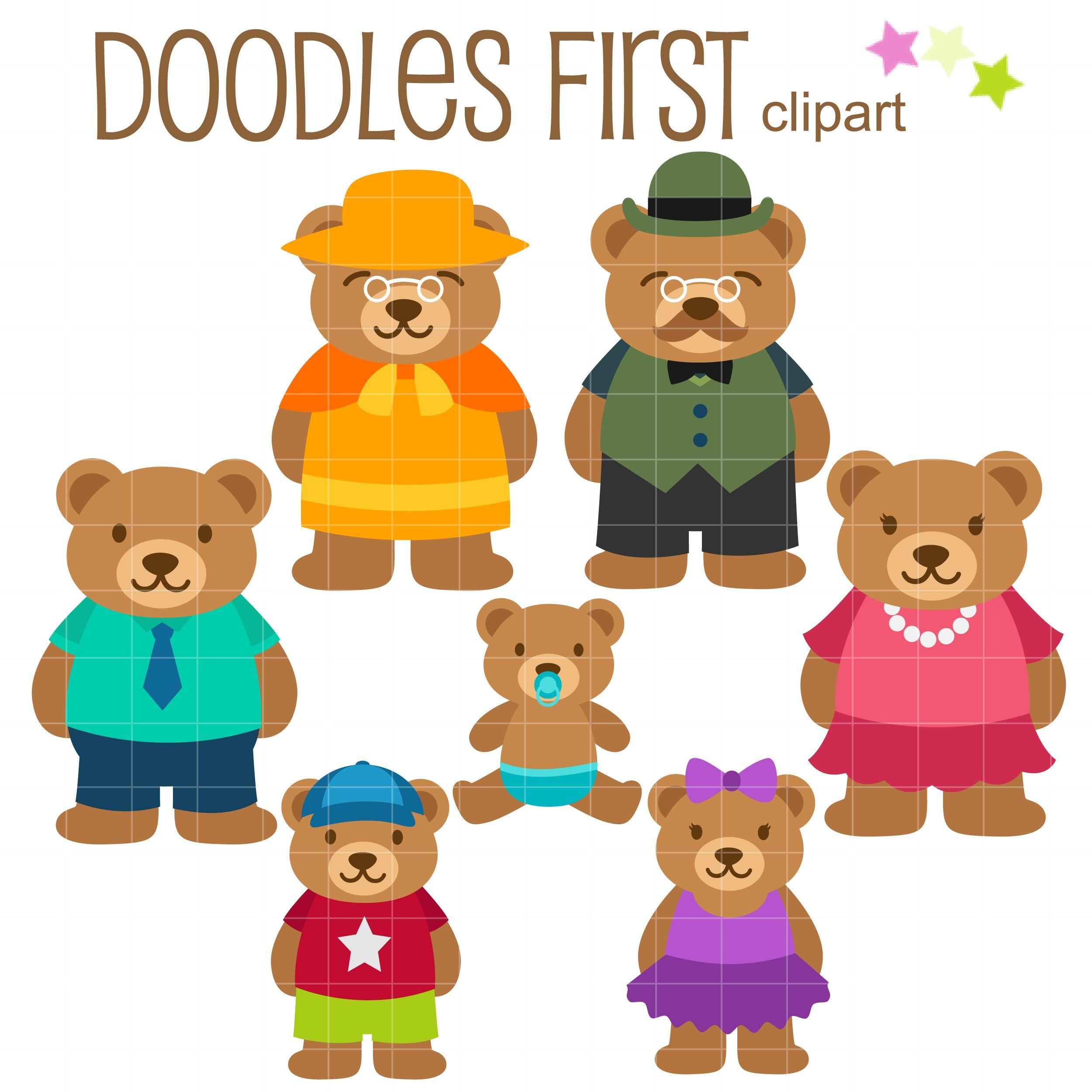 Bear Family Clip Art Set Daily Art Hub Free Clip Art Everyday Art Hub Free Clip Art Family Art