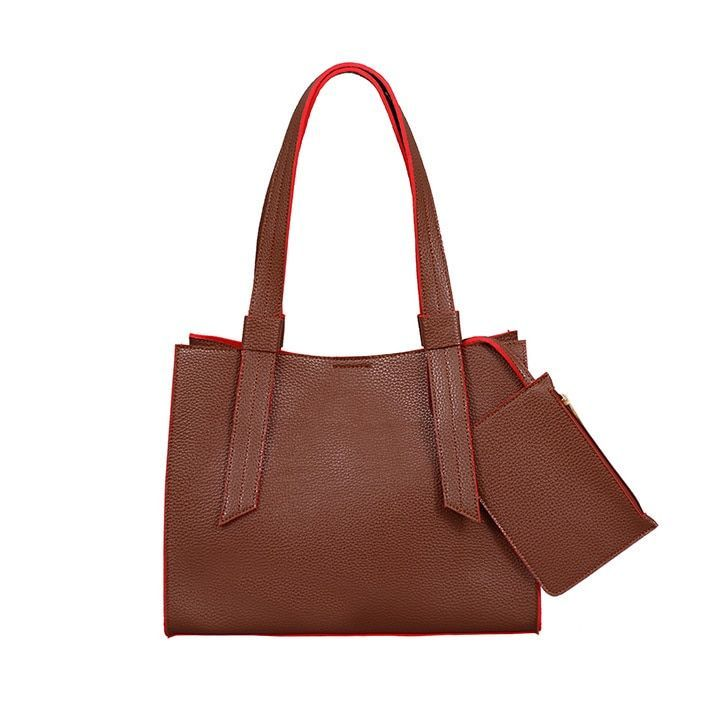 Mellow World Anna Faux Leather Structured Tote Bag