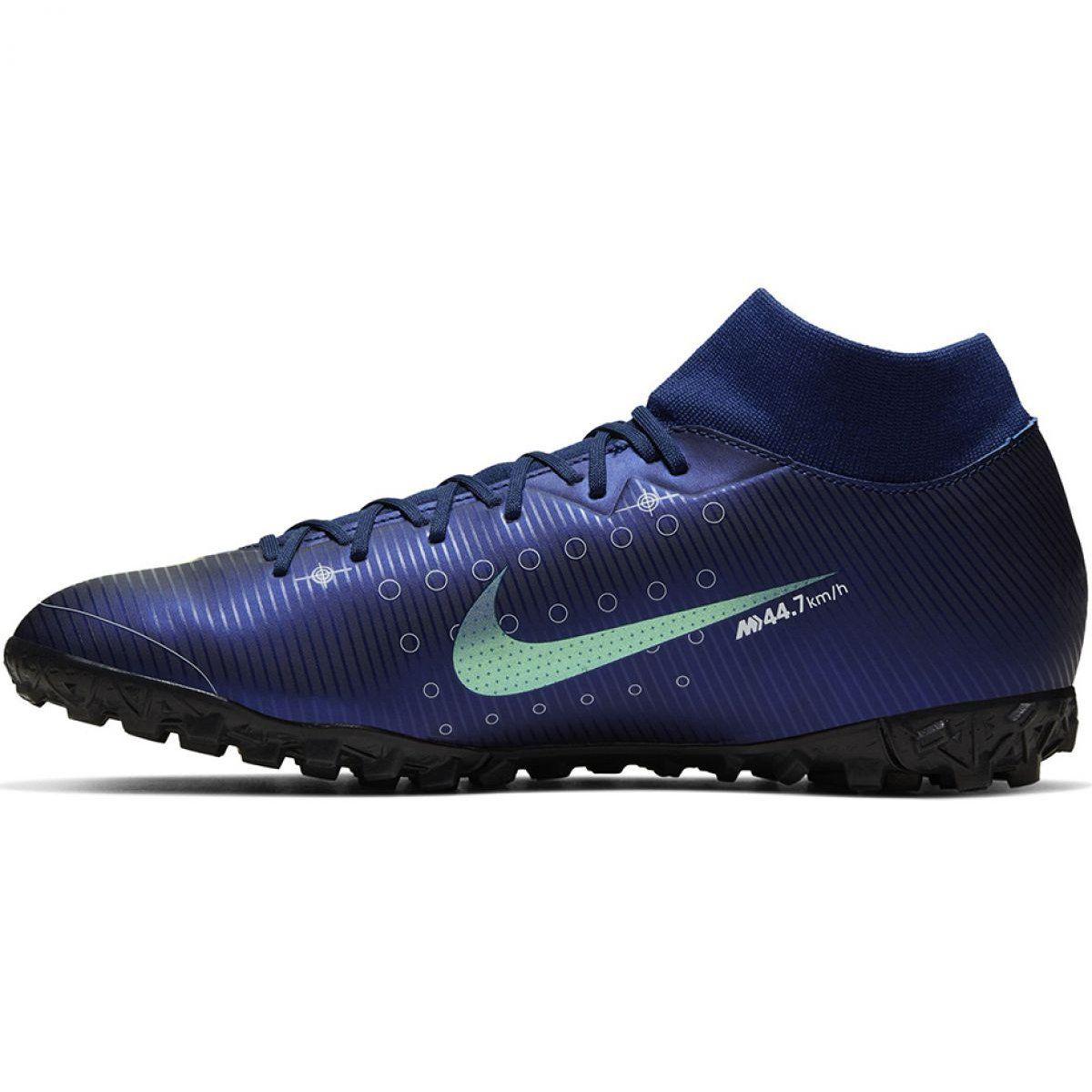 Buty Pilkarskie Nike Mercurial Superfly 7 Academy Mds Tf M Bq5435 401 Granatowe Niebieskie Football Shoes Soccer Shoes Shoes