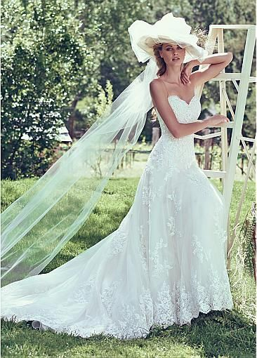Glamorous A-line Wedding Dresses! The lace is pretty!
