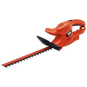 Black Decker 17 In 3 2 Amp Corded Electric Hedge Trimmer Tr117 The Home Depot Hedge Trimmers Black Decker Hedges