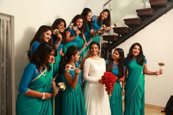 Kerala Christian Wedding bridesmaids Weddingz