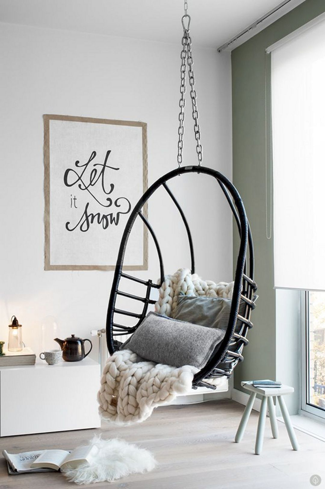 11 Tips To Optimize The Small Living Room For A Tiny House Room Inspiration Indoor Swing Chair House Interior